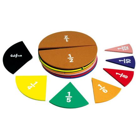 Bråkcirklar - magnetiska för whiteboard - 7763-430-0