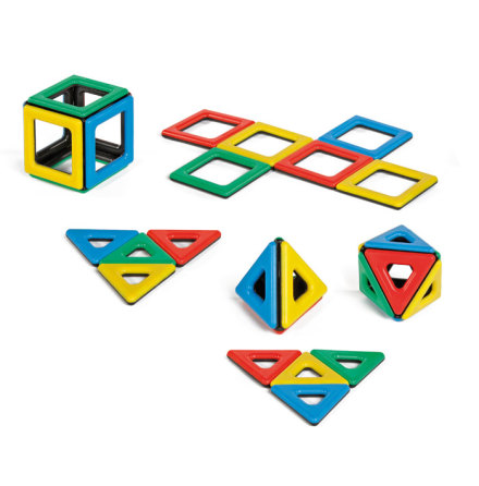Polydron Magnetic - Trianglar/kvadrater - 7763-336-5