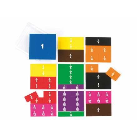 Bråkkvadrat med tryck - bordsmodell 51 delar - 7762-674-9