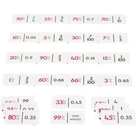 Domino - Procent/bråk/decimal - 7762-532-2
