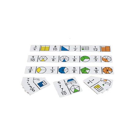 Domino - Bråk tal och bild - 7762-526-1