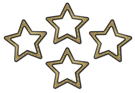 Dekor - Glittrande guldstjärnor 36 st 7763-887-2