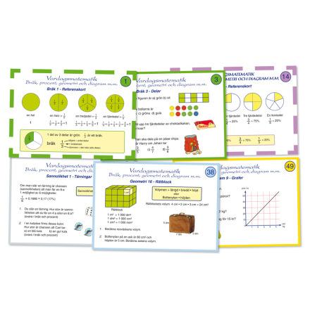 Vardagsmatematik - Bråk, procent, geometri och diagram - 7762-603-9