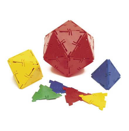 Polydron tillbehör - Liksidiga trianglar - 7763-318-1