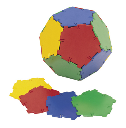 Polydron tillbehör - Pentagoner - 7763-320-4