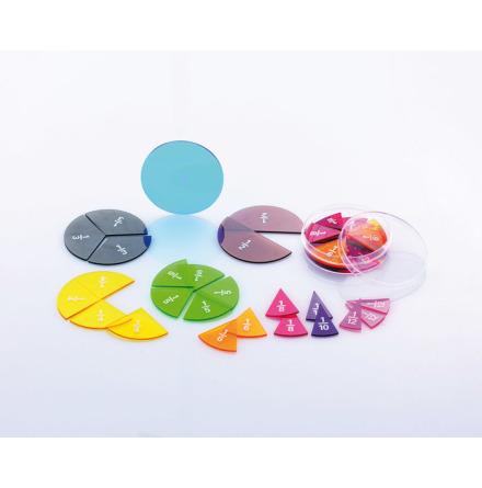 Bråkcirklar genomskinliga, med tryck - 7763-423-2